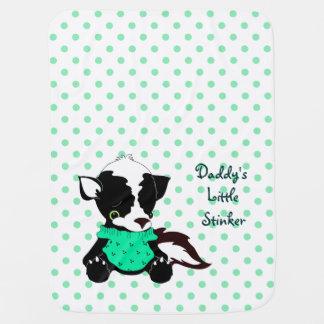 Daddys Little Stinker Skunk Polka Dot Baby Blanket