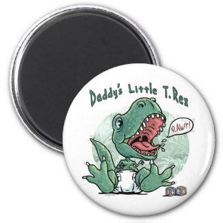 Daddy's Little T Rex 2 Inch Round Magnet