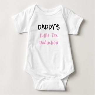 Daddys Little Tax Deduction Pink Baby Bodysuit