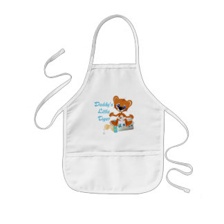 Daddys Little Tiger Boy Baby Tiger Kids Apron
