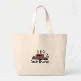 Daddys Little Trucker Large Tote Bag