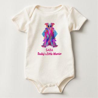 Daddy's Little Warrior in Pink Baby Bodysuit
