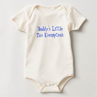 Daddy's LittleTax Exemption - Blue Baby Bodysuit