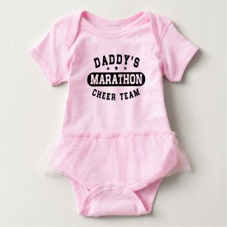 Daddy's Marathon Cheer Team Baby Bodysuit