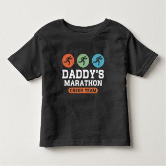 Daddy's Marathon Cheer Team Toddler T-shirt