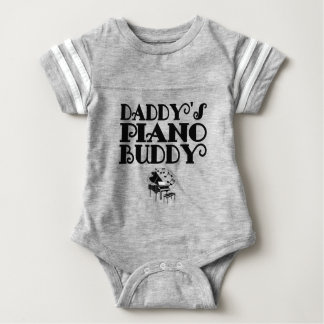 Daddy's Piano Buddy Baby Bodysuit