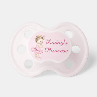 Daddy's Princess in Tutu Vintage Baby Pacifier