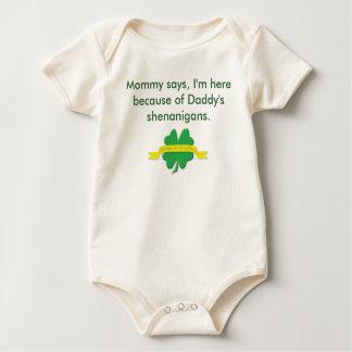 Daddy's shenanigans/Lucky to be Irish Baby Bodysuit