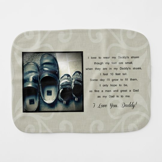 Daddy's Shoes Baby Burp Cloths