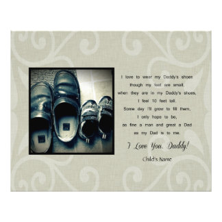 Daddy's Shoes Photo Print