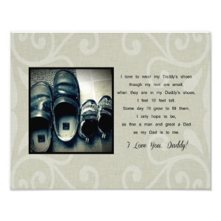 Daddy's Shoes Photographic Print
