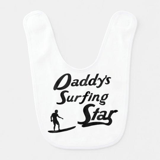 Daddy's Surfing Star Baby Bibs