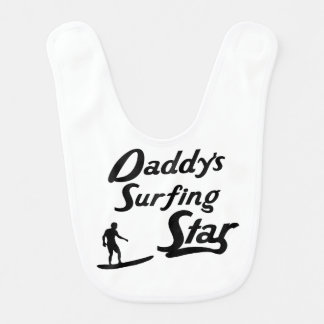 Daddy's Surfing Star Bib