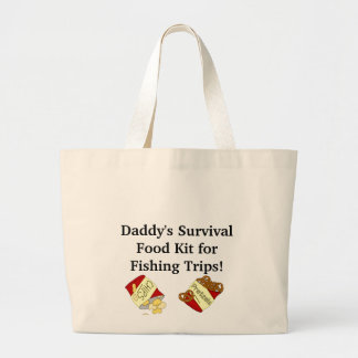 Daddy's Survival Kit for Fishing Trips Tote Bag