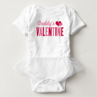 Daddy's Valentine | Valentine's Day Girls Baby Bodysuit