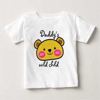 Daddy's wild child leopard cute baby tee shirt
