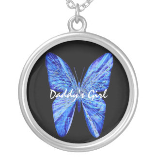 Daddy's Wings Silver Plated Necklace