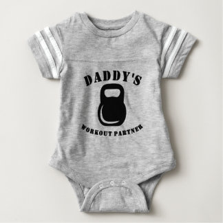 Daddy's Workout Partner Baby Bodysuit