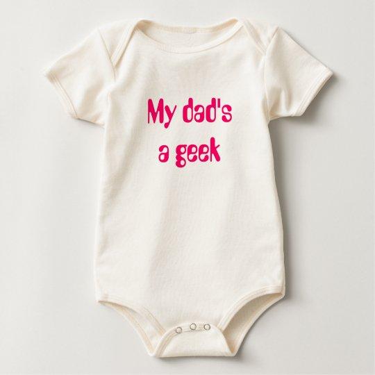 DadGeek Pink Baby Bodysuit