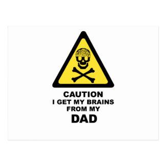 dads brains postcard