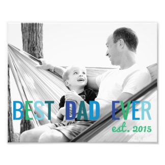 Dads Custom Photo Best Dad Ever with Year Father's