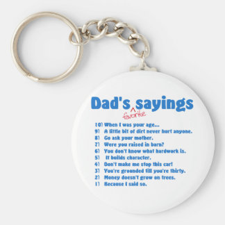 Dads favorite sayings keychain
