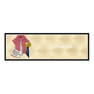 Dad's Favorite Shirt with #1 Ribbon w/Gold Backing Double-Sided Mini Business Cards (Pack Of 20)
