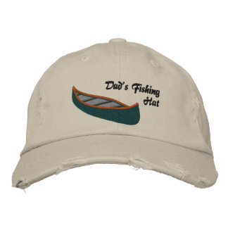 Dads Fishing Hat with Canoe