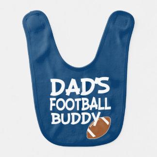 Dad's Football Buddy funny baby boy bib