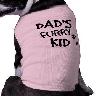 Dad's Furry Kid Dog T Shirt