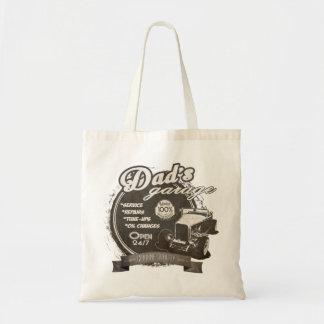 Dad's Garage Black and White Tote Bag