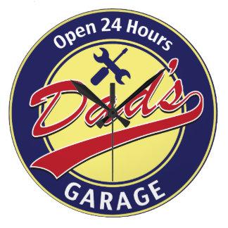 Dad's Garage Large Clock