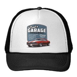 Dad's Garage Red Camaro Trucker Hat
