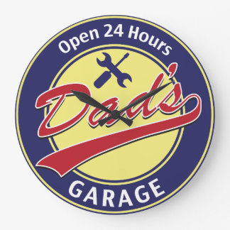 Dad's Garage Wall Clocks