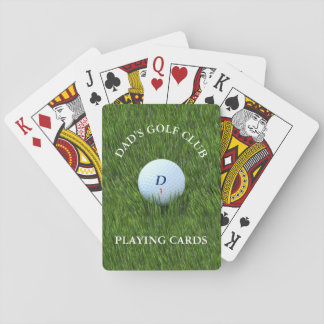 Dad's Golf Club Playing Cards