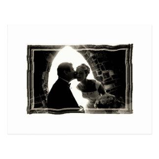 dads kiss postcard