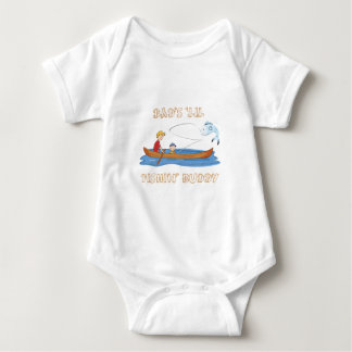 "Dad's ""Lil Fishin' Buddy Baby Bodysuit"