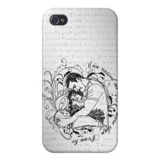 Dad's little girl line drawing text design iPhone 4 case