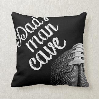 Dad's man cave football throw pillow