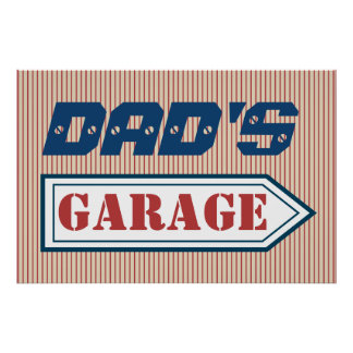Dad's Men's Mechanic Father's Day Garage Sign Gift Poster