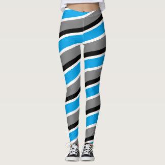 Dad's Mug blue black and white Striped Leggings