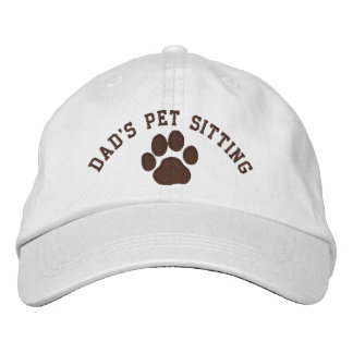 Dad's Pet Sitting Embroidered Hat