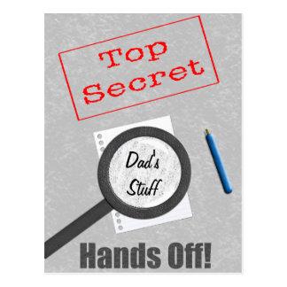 Dad's Stuff Top Secret Postcard