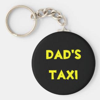 dad's taxi basic round button keychain