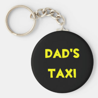 dad's taxi keychain