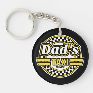 Dad's Taxi Service - Gift for Dad - Keychain