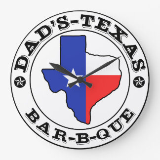 Dad's Texas Barbecue by Mini Brothers Large Clock