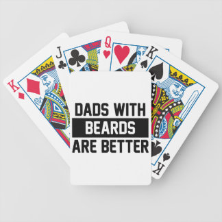 Dads with Beards Bicycle Playing Cards