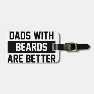 Dads with Beards Luggage Tag