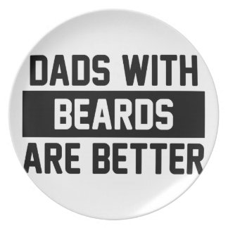 Dads with Beards Plate